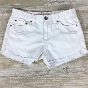 Free People Shorts - Free People Distressed Denim Shorts